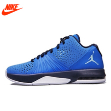 Intersport Original New Arrival NIKE Men's Breathable Basketball Shoes Sneakers Blue(China)