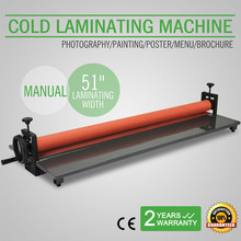 "51"" 1300MM Manual Cold Roll Laminator Vinyl Photo Film Mounting Laminating Machine"