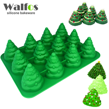 3D Christmas Tree Fondant Cake Bread Decorating Sugarcraft Silicone Pop Soap Mold Mould DIY Tools(China)