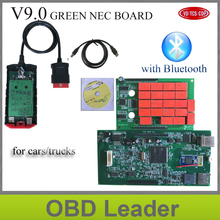 ship free V9.0 Green board with red nec relays 15R3/14R3 keygen Newest with full plastic box VD TCS CDP PRO PLUS with Bluetooth(China)