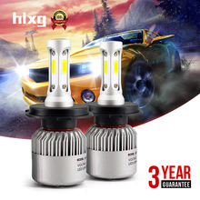 2pcs 72W 8000LM 6500K H7 Led H4 High Low Beam COB Chip H1 H8 H11 LED Headlight For Car Motocycle Automobile SUV Fog Light 12V