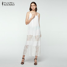 Buy 5 Colors ZANZEA 2017 Summer Style Women Lace Casual Solid Loose Long Maxi Dress Sexy Strapless Beach Dresses Plus Size Vestidos for $11.27 in AliExpress store
