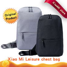 Buy Original Xiaomi Backpack urban leisure chest pack Men Women Small Size Shoulder Type Unisex Rucksack camera DVD phones for $19.20 in AliExpress store