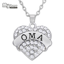 Popular jewelry market buy cheap jewelry market lots from china my shape zinc alloy oma crystal heart jewelry pendant necklace orderly marketing agreement choker statement necklace christmas platinumwayz
