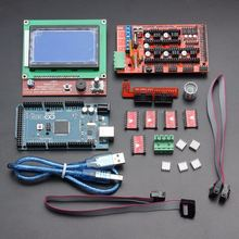 1PC Mega 2560 R3 Control Board + 1x RAMPS 1.4 Controller + 5x A4988 Driver Module And Other Accessories Integrated Circuits