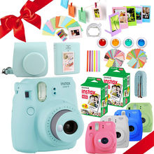 Fujifilm Instax Mini 9 Camera + 40 Shots Mini 8 Instant White Film Photo Paper + PU Carry Bag + Album + Close up Lens + Gift Set(Hong Kong,China)