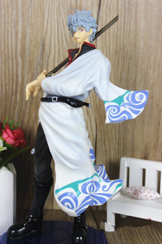 9 23cm Anime Silver Soul Gin Tama Gintama Sakata Gintoki PVC Action Figure Colletion Model Toy Gifts Free Shipping<br><br>Aliexpress