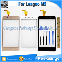 "5.0""inch Black&White&Gold Touch Sensor For Leagoo M5 Touch Screen With Digitizer Panel+Tools+3M Sticker+Track"