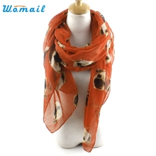 Womail Good Deal New Fashion Lady Women Long Cute Pug Dog Print Scarf Wraps Shawl Soft Scarves Gift 1PC