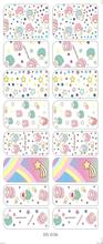DS036 Water Transfer Foils Nail Art Sticker Cartoon Babys Design Manicure Decals Minx Nail Decorations Patch New 2017