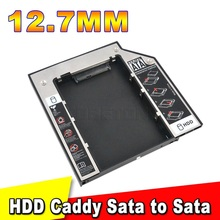 2015 SSD HDD HD Hard Disk Driver Caddy 12.7mm External Case SATA to SATA plastic 2nd for CD DVD DVD-ROM Optical Bay for Laptop