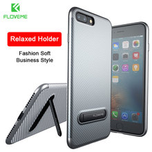 FLOVEME Kickstand Phone Case For iPhone 7 6 6S Plus Luxury Brand Mobile Phone Bag Case Soft Silicon Cover For iPhone 7 6 6S Case