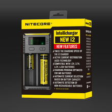 Nitecore New i2 Intelli-charger Universal Battery Charger for AA AAA Li-ion 26650 18650 14500 Batteries Charging(China)
