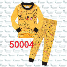 1-8Years New Child Pyjamas Clothes Pokemon Pikachu Pijamas Baby Sleepwear Suit Yellow Kids Pajamas Set for Boys Girls