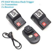 WanSen PT-04GY 4 Channels Wireless / Radio Flash Trigger Transmitter + 2 Receivers for Canon Nikon Pentax Olympus(China)
