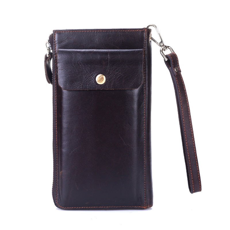 2017 Luxury Cowhide Men Clutch Bag Genuine Leather Men Bag Business Men Clutches double Zipper Male Clutch Bags Function Wallets<br>