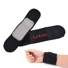 2Pcs Self Heating Sports Fitness Wrist Adjustable Wrist Support Brace Brand Wristband Professional Sports Protection(China)