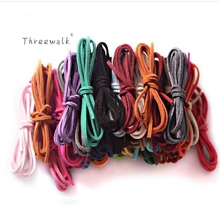 1meter/lot 3mm Suede Flat Leather Cord Bracelet Faux Velvet Cords Rope Thread String Necklace DIY Jewelry Findings