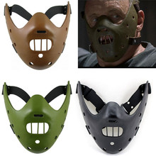 Film The Silence Of The Lamb Hannibal Lecter Halloween Party Cosplay Resin Mask Black/Brown/Green 3 Colors