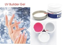 1pcs Nail IBD Gel UV Builder Nail Art Pink Clear White Beauty Salon 2oz / 56g Strong false tips extension polish 3 color option
