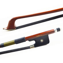 1/4 Size Natural BLACK Horse Hair FRENCH Bass Bow! Gorgeous BALANCED and Great Flexibility, Wonderful String Instrument Part!!