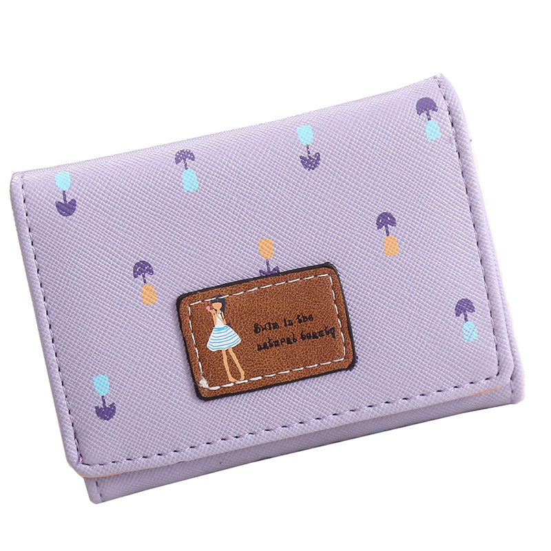 Candy Color Cute Wallets Women Small Purses Girl Flower Printing Coin Holders Ladies Day Clutch Card Holder--BIC086 PM10<br><br>Aliexpress