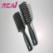 Fashion Boar Bristle Hair Brush with Nylon Stick, Black Color Hair Brush Professional, 1PC Cheap Epacket(China)