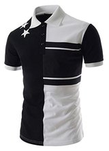 Abetteric Stripe Blocked Short-Sleeve Pique Polo Shirt(China)