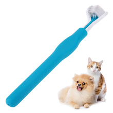Pet ToothBrush Three Sides Deep Pet Cleaning ToothBrush Super Soft Brush Cat Dog Omnibearing Care Cleaning Pet Products
