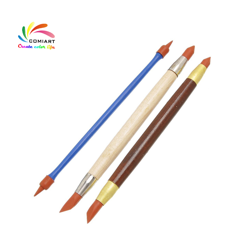 5pcs Silicone Rubber Shapers Polymer Clay Sculpting Fimo Modelling Tools CYN