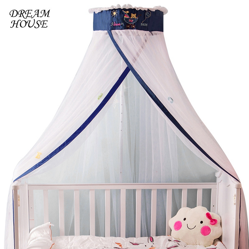 Durable Baby Boys Girls Summer Palace Mosquito Net including Holder Insects Reject Crib Netting Children Bedding Room Decor