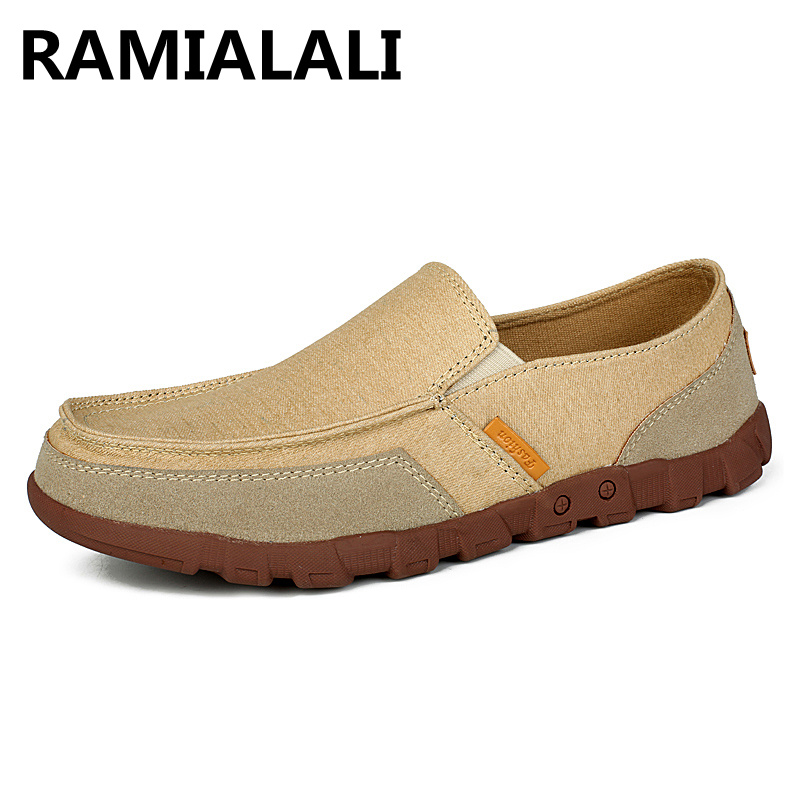 2017 Plus Size39-47 European Style Men Canvas Loafers Shoes Slip on Male Summer Driving Flat Shoes Moccasins Espadrilles <br><br>Aliexpress