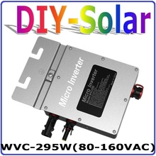 295W 22-50VDC Grid Tie Micro Inverter with 6-grade MPPT Function for 300W 36V Home Use Solar Power System,AC 80-160V or 180-260V