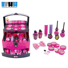 Simulation Dressing Table Princess Toys Cute Children Makeup Set Kids Girls Simulation Toys Plastic Baby Toy Free Shopping(China)