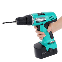 Professional Cordless Drill Driver Fine Electric Drill Rechargeable Electric Charging Screwdriver with 15pcs Driver Bit