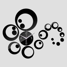 new fashion acrylic diy wall clock clocks modern living room home decor mirror sticker Furniture Stickers(China)