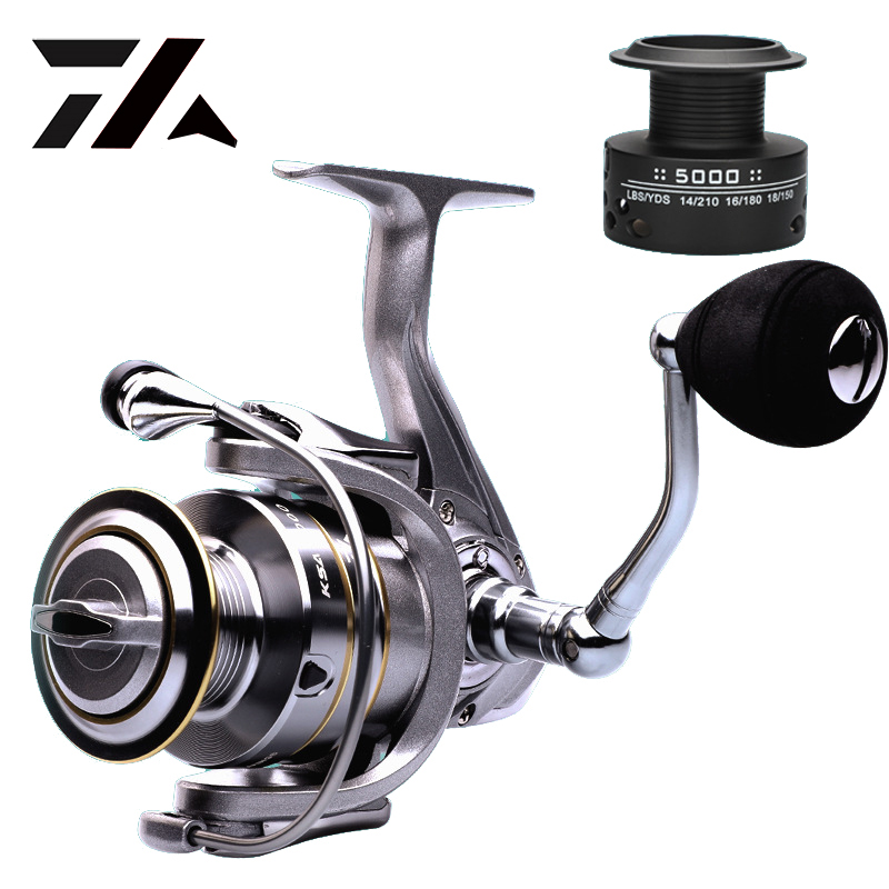 High Quality 14+1 BB Double Spool Fishing Reel 5.5:1 Gear Ratio High Speed Spinning Reel Carp Fishing Reels For Saltwater title=