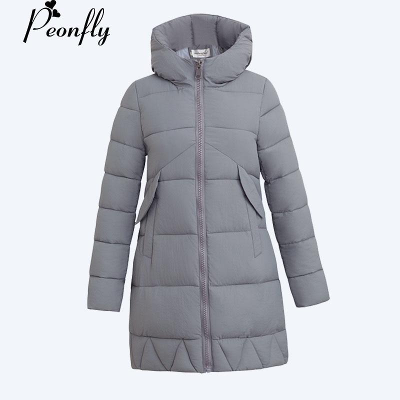 PEONFLY 2017 Winter Jacket Women  Medium-Long Parkas For Women Hooded Warm Winter Coat Female Winter Jacket Manteau FemmeÎäåæäà è àêñåññóàðû<br><br>