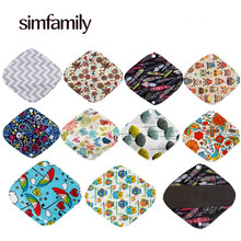 10 Pcs Panty Liner Reusable Washable Menstrual Cloth Sanitary Pads,Bamboo Charcoal Inner,8 Inch X 2.5 Inch(China)