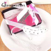 Qianxiaozhen 1pcs High-heeled Shoe Bookmark Favors Wedding Favors And Gifts Birthday Party Baby Shower Favors Gifts Supplies(China)