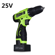 25V Lithium Battery Electric Drill Double Speed Cordless Drill Household Multi-function Electric Screwdriver Power Tools(China)