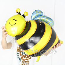 100% GOOD quality 10pcs/lot big bee foil balloons mylar helium ballon shaped insect globos for holiday party supplies kids toys