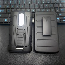 Men Phone Case For Motorola Moto Droid Turbo 2/XT1585/X Force/Z Force/Z Play Heavhy Duty Armor Hybird Rubber Holster+Belt Clip(China)