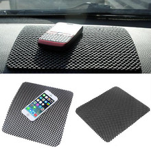 Newest 19.7*16.5cm Flexible Black Color Car Non Slip Dashboard Mat Key Pads Holder for MP3 MP4 IPDA Non Slip Large Anti Slip Mat(China)