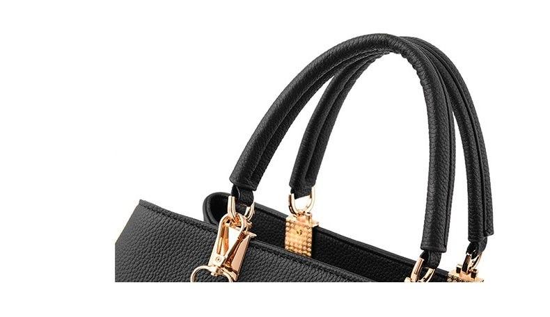 WENYUJH New 18 Elegant Shoulder Bag Women Designer Luxury Handbags Women Bags Plum Bow Sweet Messenger Crossbody Bag for Women 13
