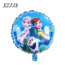 Cartoon 5pcs Anna/Elsa Party Decoration Cartoon Foil Inflatable Balloons Birthday Party Decorations House Ornament Kids Toys