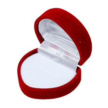 "Doreen Box Velvet Jewelry Ring Gift Boxes Heart Red 49mm(1 7/8"") x 44mm(1 6/8""), 1 Piece 2017 new"