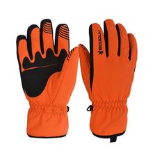Boodun Unisex Winter Warm Windproof Waterproof Skiing Snowboard Glove Motorcycle Riding Gloves Outdoor Sport Gloves Orange(China)
