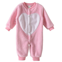 Buy Baby Romper Boys Girls Fall Winter clothes Baby Warm Fleece Rompers Thickening Coveralls Baby Romper Newborn Jumpsuits Infant for $18.99 in AliExpress store