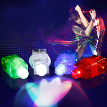 Funny Finger Ring Lamp Laser Light Colored  LED Light Up Toy Christmas Concert Supplies Children Presents
